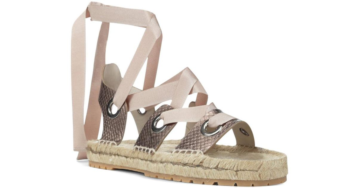 Donald Pliner Esther Snake Embossed Leather Espadrille Sandal SoBXGk
