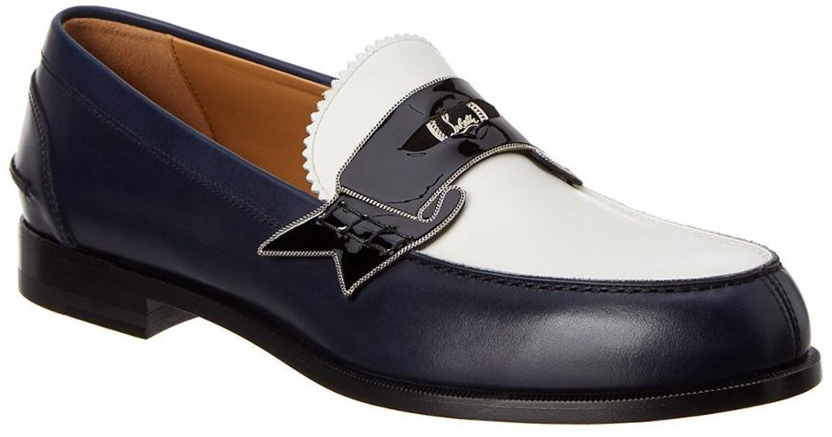 a8dc99b41bf Lyst - Christian Louboutin Monono Leather Loafer in Blue for Men
