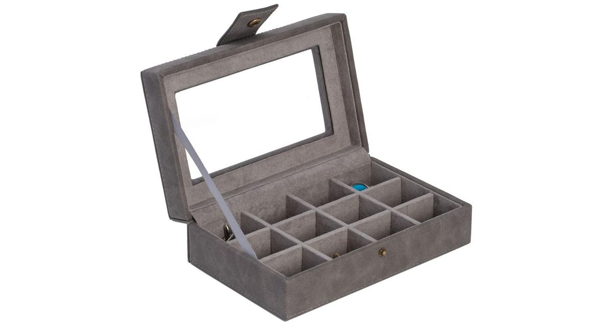 Lyst   Bey Berk 12 Cufflink Storage Case In Gray