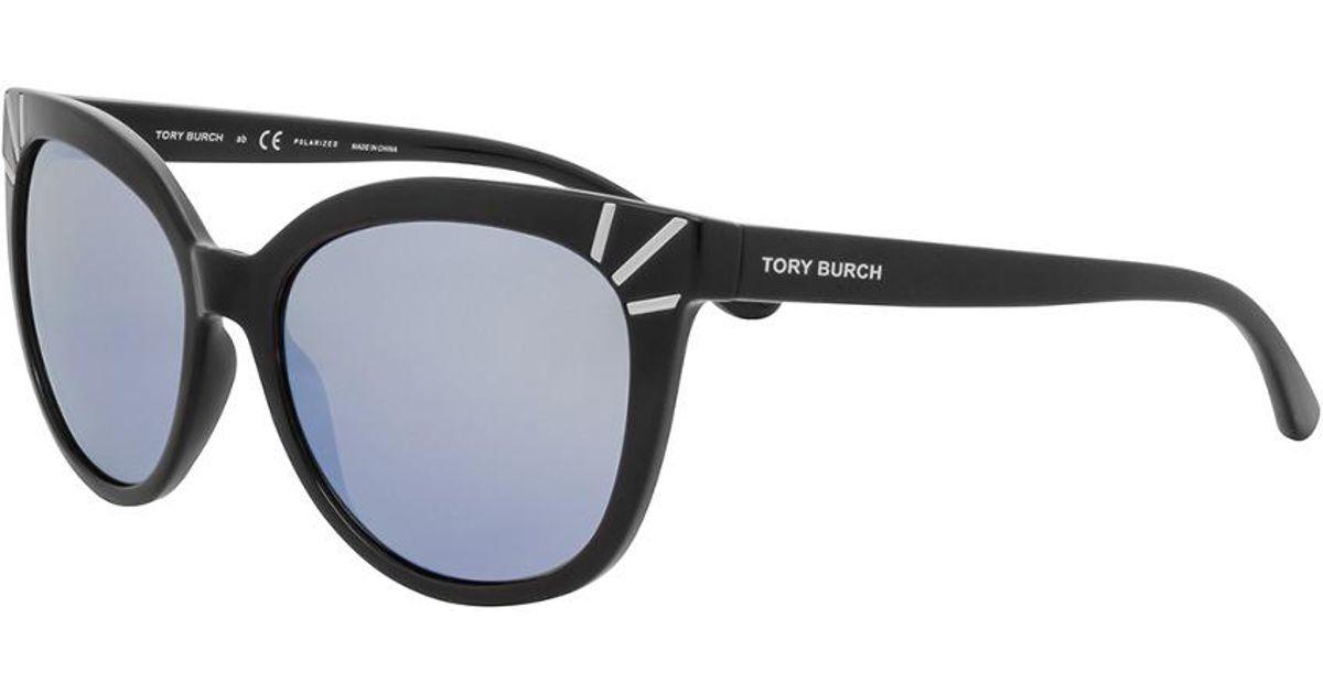 82a119ae24c6 Tory Burch Women's Ty9051 56mm Polarized Sunglasses in Black - Lyst