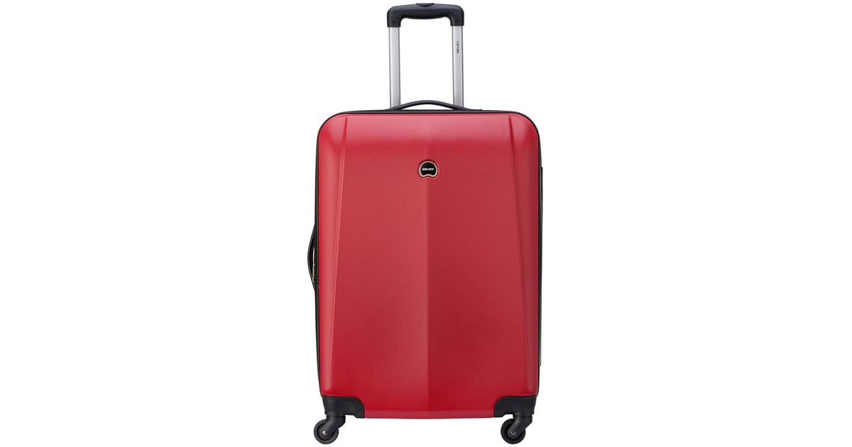 Delsey Luggage Infinitude Expandable Spinner Carry-On Red