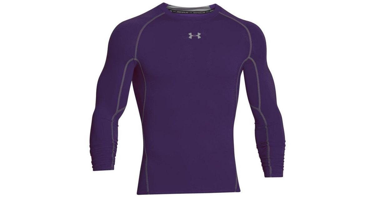 da56a992 Under Armour Purple Heatgear Armour Long Sleeve T-shirt for men