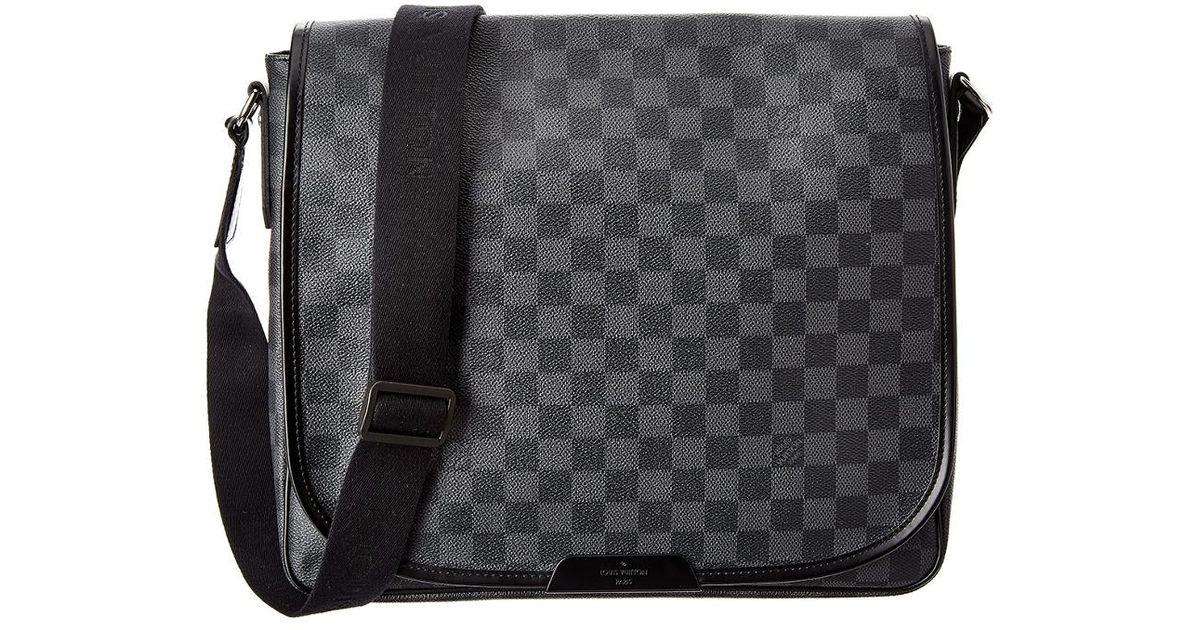 64354d46d0ae Lyst - Louis Vuitton Damier Graphite Canvas Daniel Mm in Gray for Men