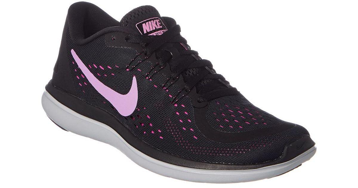 nike flex 2017 rn women's running shoes black