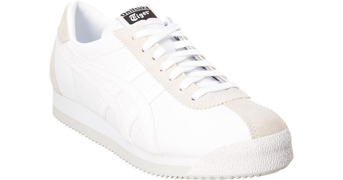 size 40 fc7fe cfa07 Asics White Onitsuka Tiger By Corsair Leather Sneaker