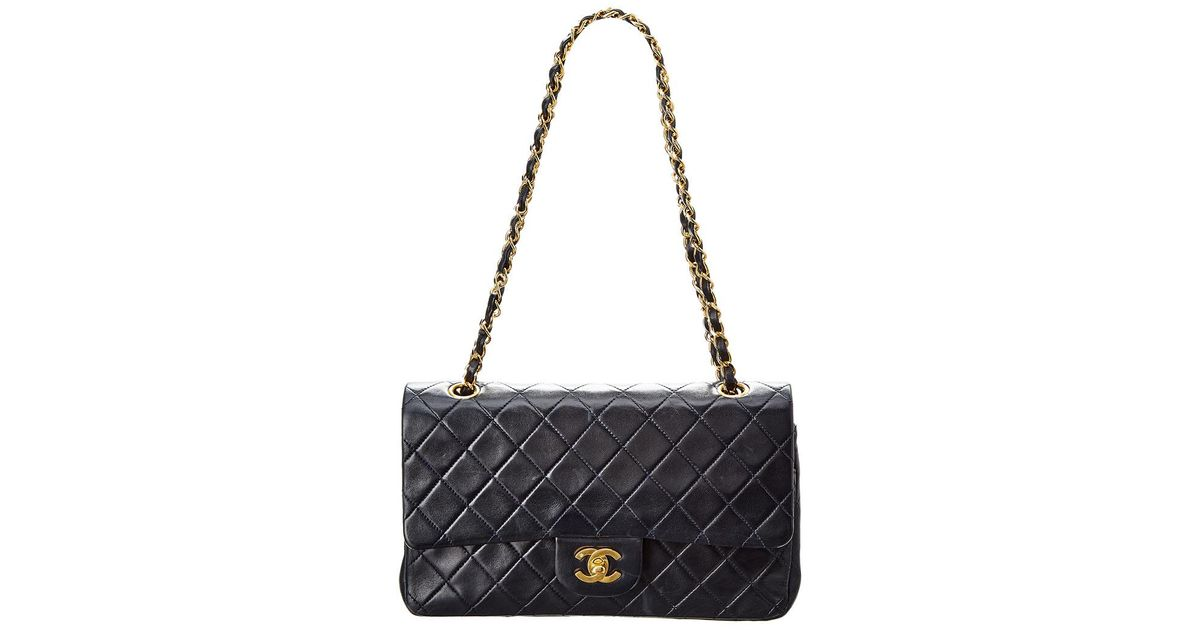255c5f066509ba Chanel Navy Quilted Lambskin Leather 2.55 Reissue 225 Double Flap Bag - Lyst
