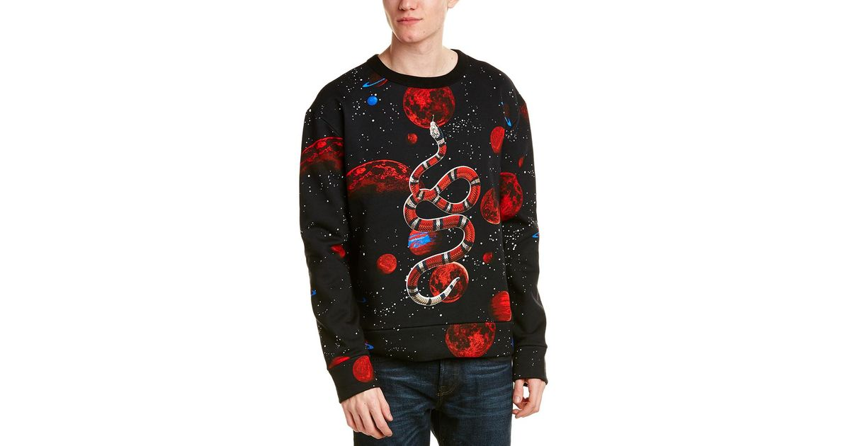 bd9927abd37 Lyst - Gucci Space Snake Print Sweatshirt in Black for Men