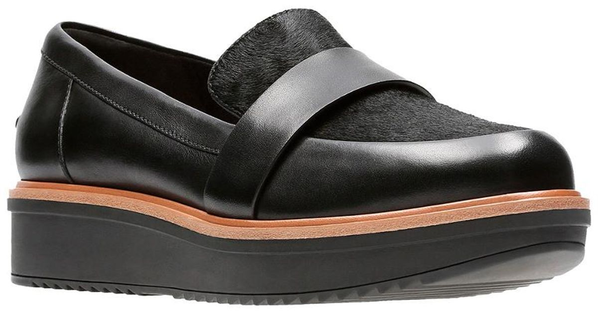 ede48fe1067 Clarks Artisan Women s Teadale Elsa Leather Loafer in Black - Lyst
