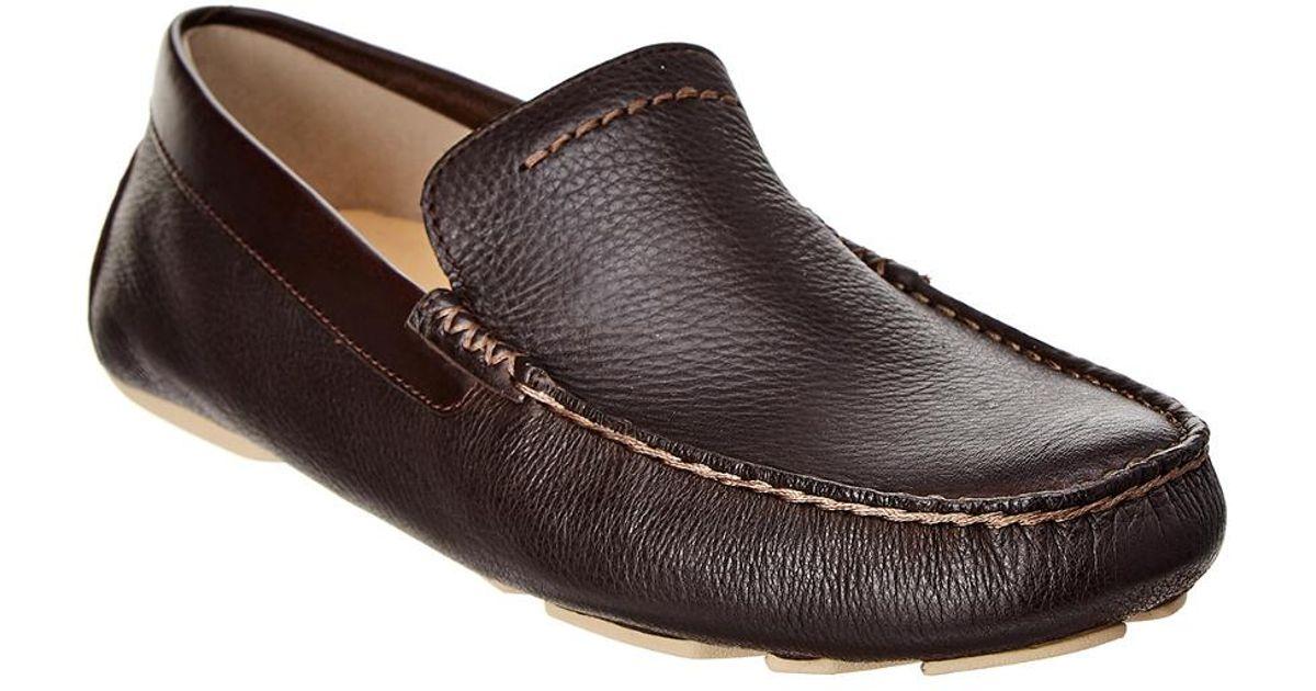 8196ee3769f Ugg Brown Henrick Leather Driver for men