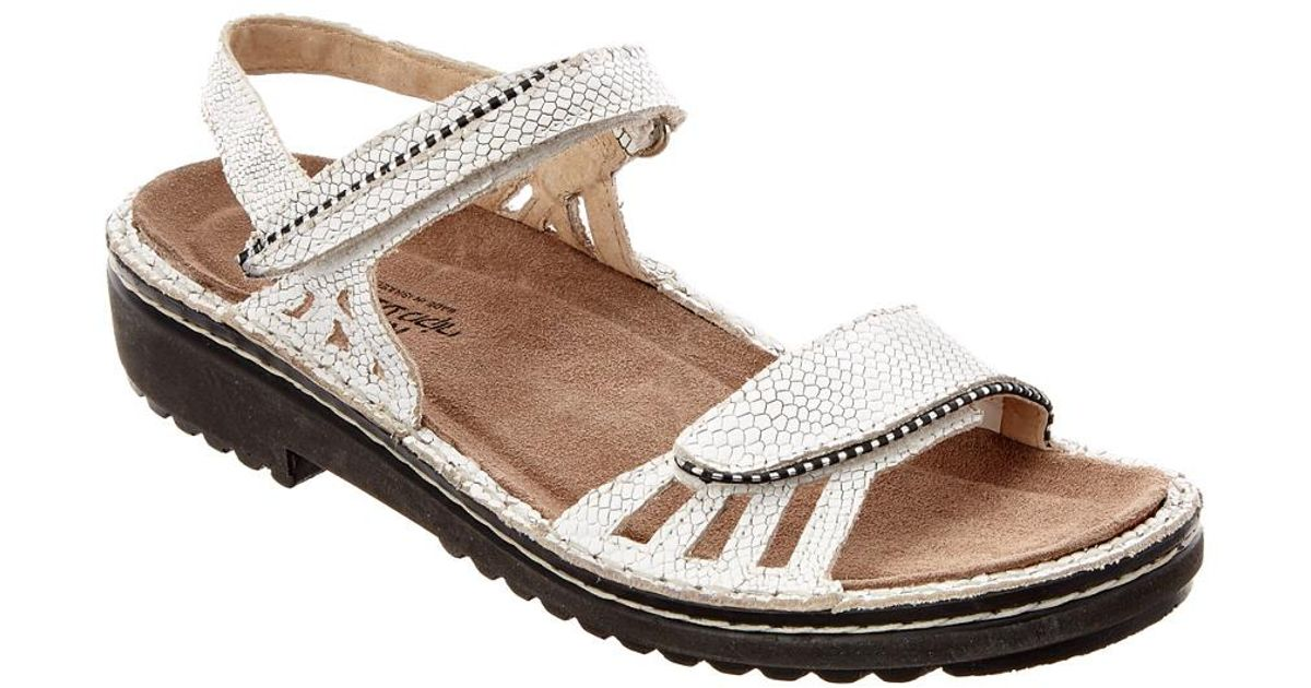 557bc13c1994 Lyst - Naot Anika Leather Sandal in White