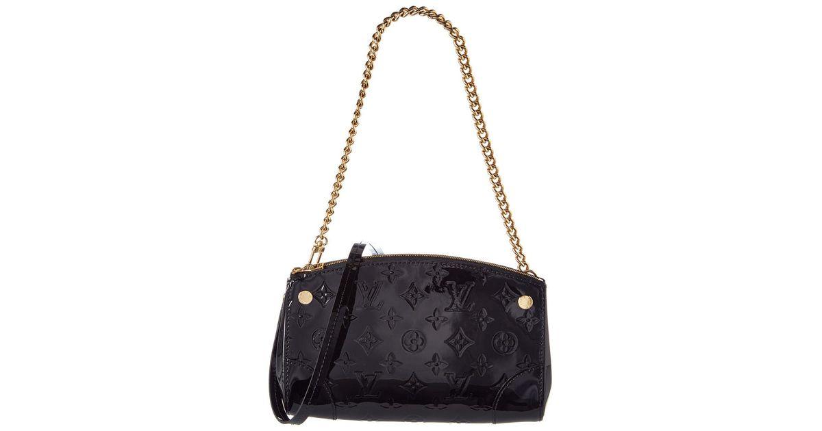 640502c0d55b Lyst - Louis Vuitton Black Monogram Vernis Leather Santa Monica in Black