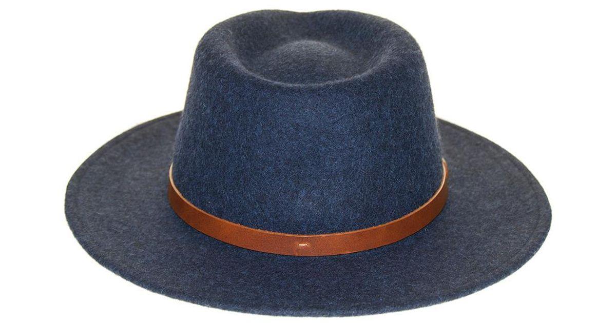 298024c5f Frye Blue Tall Crown Felt Fedora - Size S-m