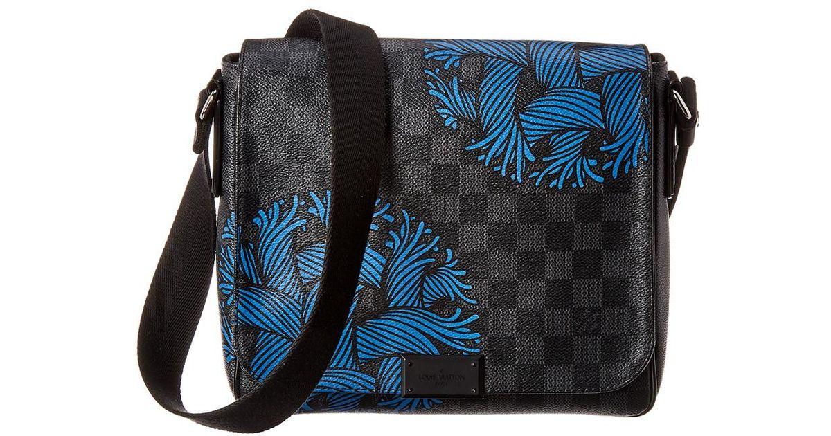 72eb5f40140 Louis Vuitton Blue Damier Graphite Rope Canvas District Pm for men