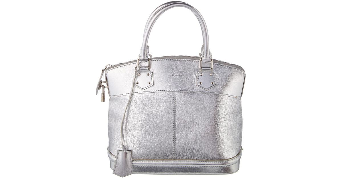 afef2f3c3b36 Lyst - Louis Vuitton Silver Suhali Leather Lockit Pm in Metallic
