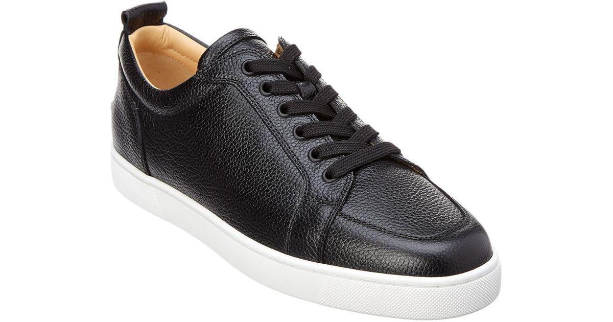 wholesale dealer 34188 c64c5 Christian Louboutin Black Rantulow Leather Sneaker for men
