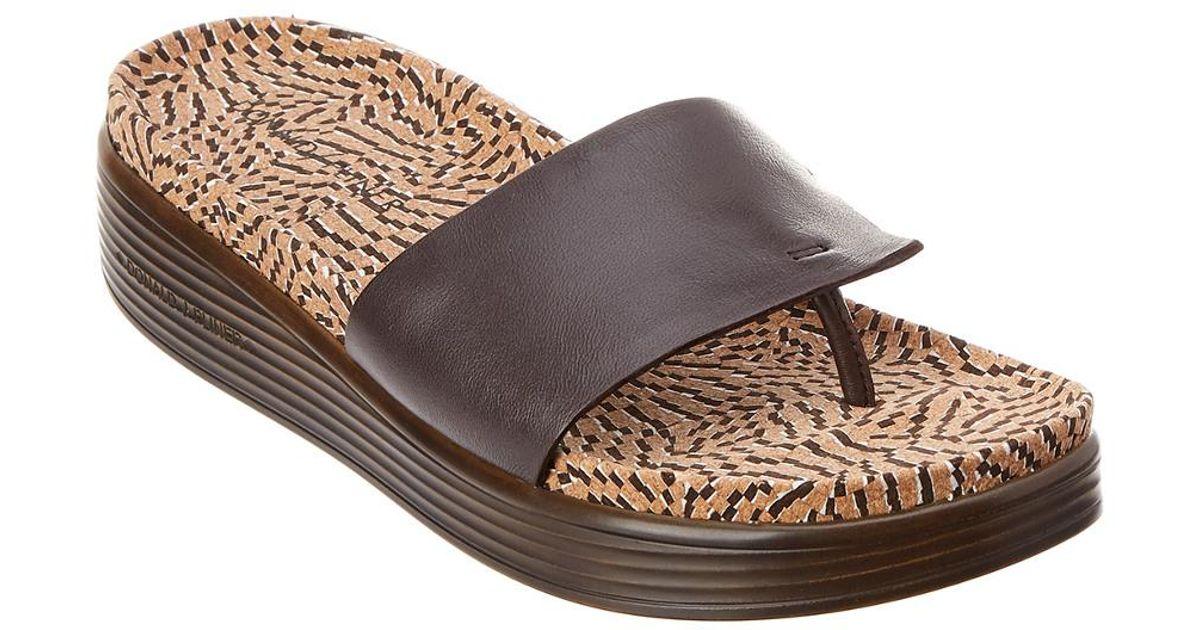 Donald J Pliner Leather Fifi Sandal in