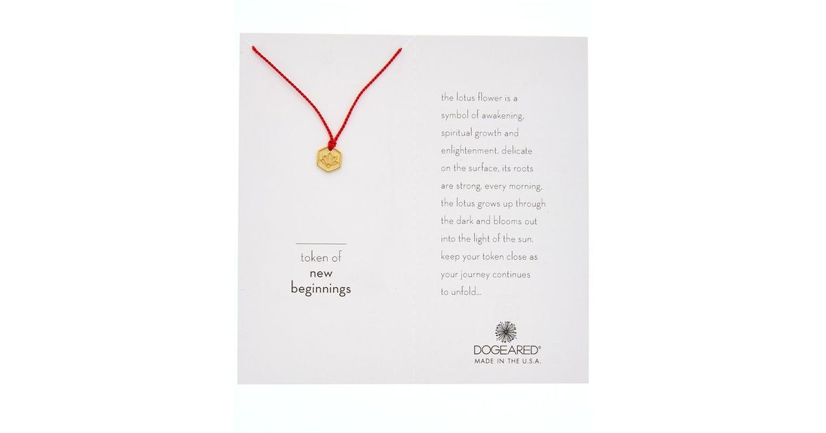 Lyst dogeared 14k gold over silver token of new beginnings lyst dogeared 14k gold over silver token of new beginnings necklace in metallic mightylinksfo