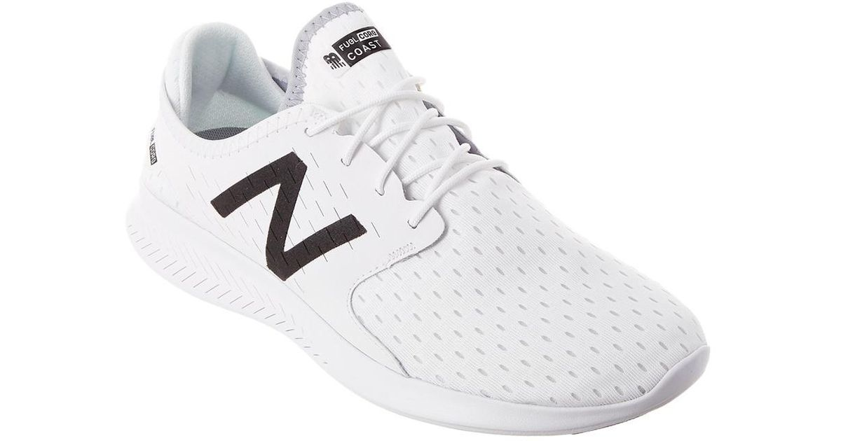 reputable site 4270a cdd1d New Balance White Men's Fuelcore Coast V3 Running Shoe for men