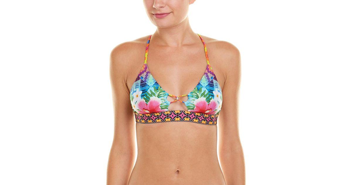 9c83a03928 Nanette Lepore Playa Nayarit Enchantress Bikini Top in Blue - Lyst