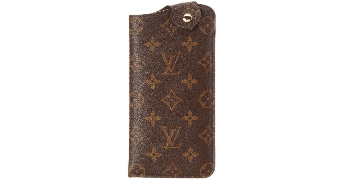 82462ca59f68 Lyst - Louis Vuitton Monogram Canvas Etui Lunette Mm Glasses Case in Brown