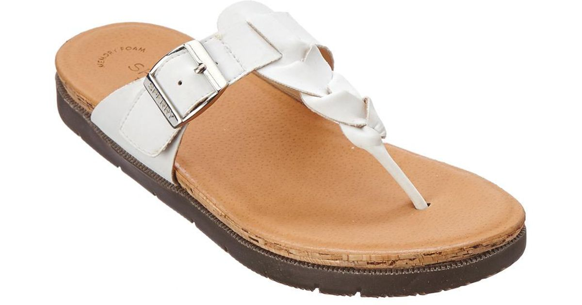 Sperry Women's Leather Sandal Lyst Sider White Dillon Top Faye 3L5ARj4q