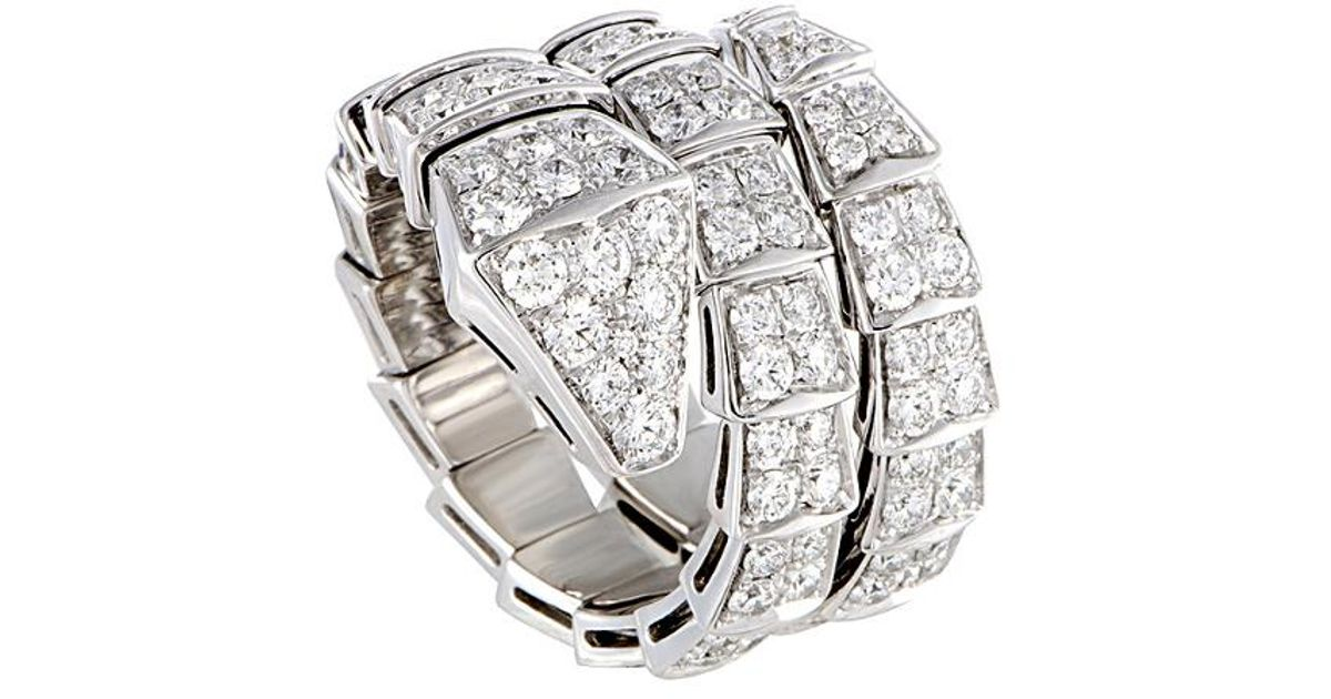 cc78f03cbbe81 BVLGARI Metallic Bulgari Serpenti 18k 2.85 Ct. Tw. Diamond Ring
