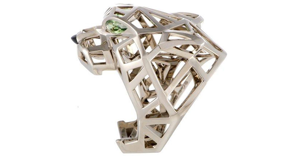 d88530e3434e3 Cartier Cartier 18k Gemstone Panther Ring in Metallic - Lyst