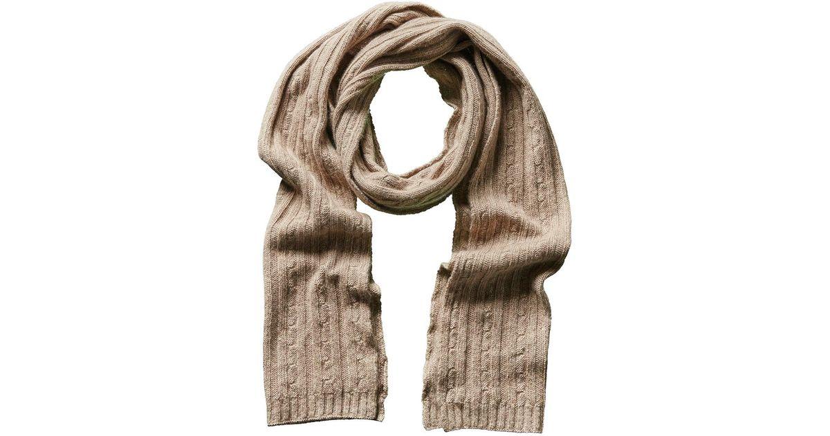 35217e5d9 Lyst - Portolano Men's Light Brown Cashmere, Silk, & Wool-blend Scarf in  Brown for Men