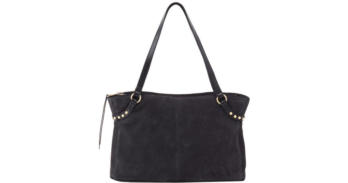 Hobo Black Allegro Leather Bag