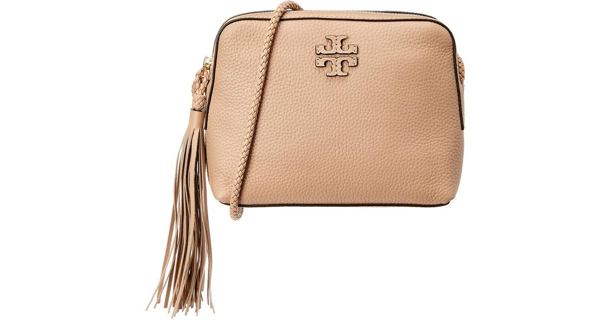 b9079b5ed39 Lyst - Tory Burch Taylor Leather Camera Bag in Natural