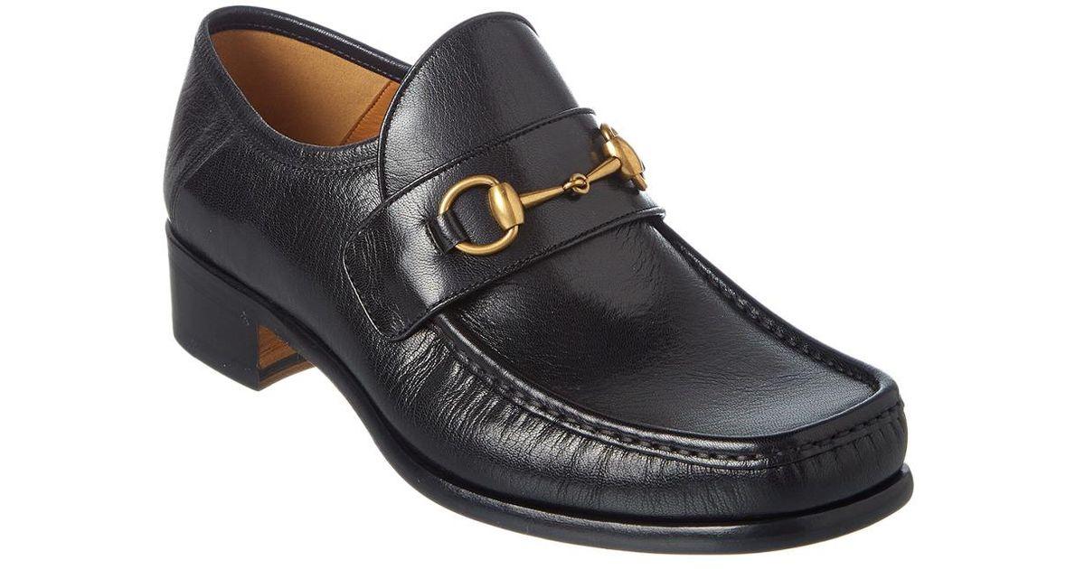 2415890d37d Lyst - Gucci Vegas Horsebit Leather Loafer in Black for Men