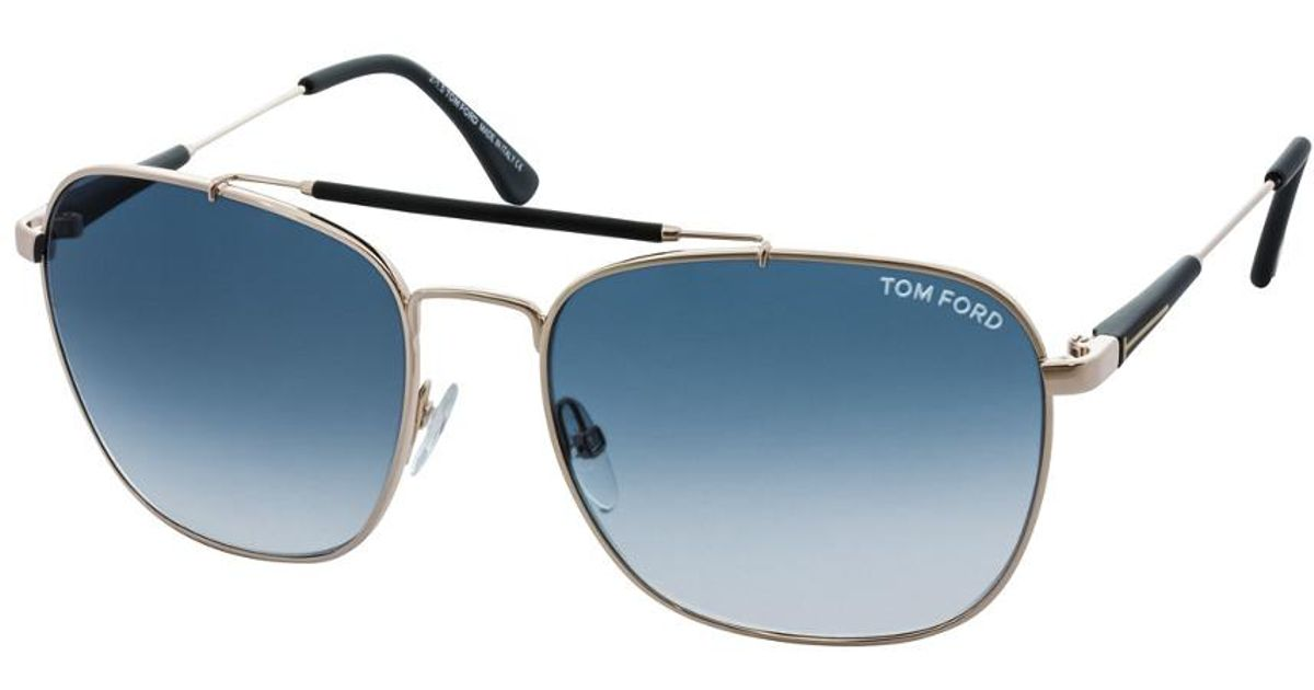 b0d24db380f Lyst - Tom Ford Edward 58mm Sunglasses in Blue for Men - Save 1%