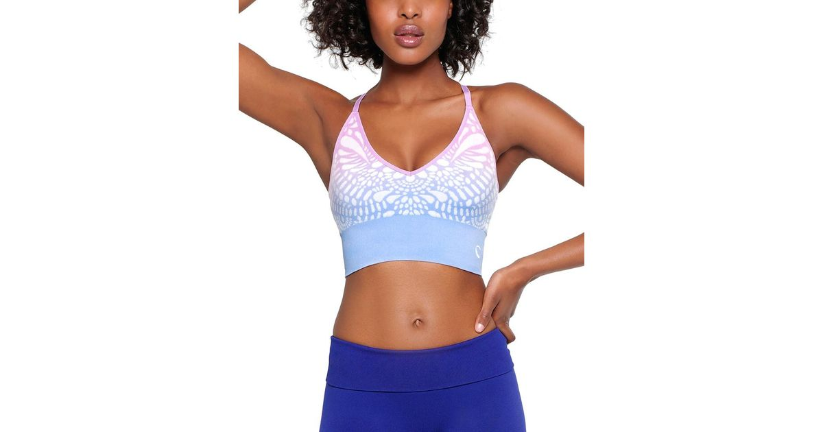 a290816c26d41 Lyst - Climawear Starry Eyed Cropped Bra in Blue
