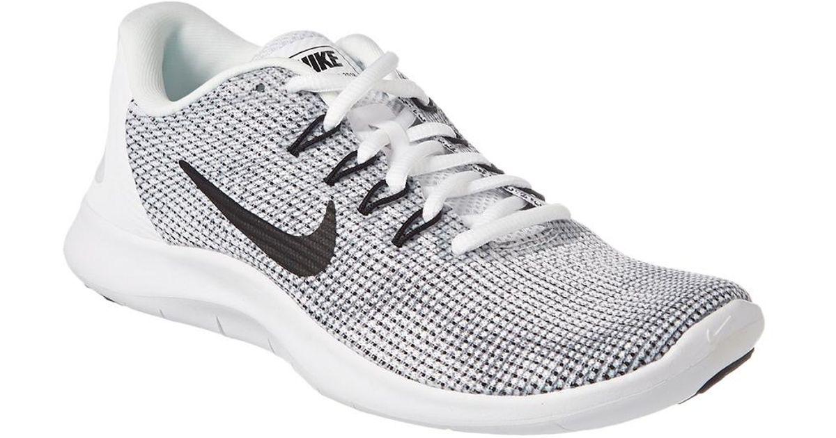 4bbfa346d57 Nike Women s Flex Rn 2018 Running Shoe in White - Lyst