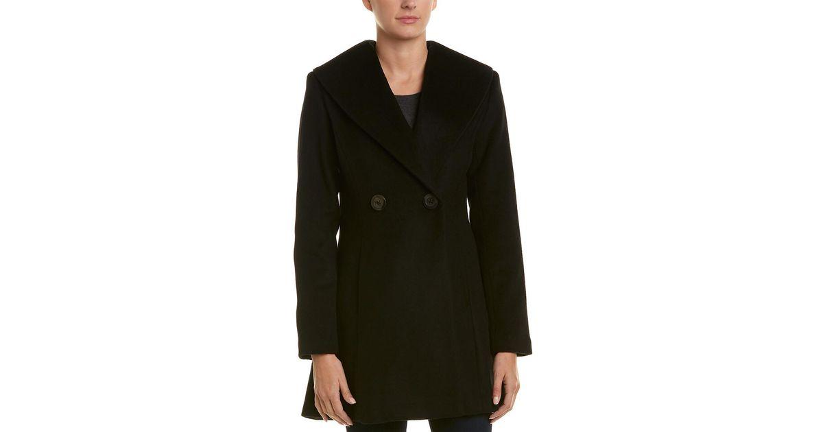 df0f5f744c133 Lyst - T Tahari Colette Wool-blend Coat in Black