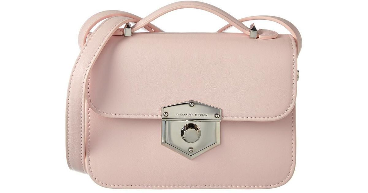 Lyst - Alexander McQueen Small Wicca Leather Satchel in Pink 8ad4f33dc5947