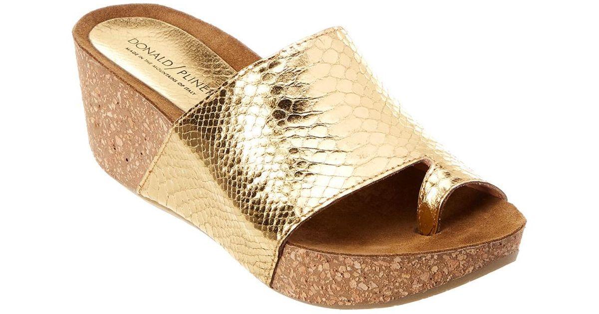 b16a9eb6797e Donald J Pliner Ginie Slide Sandal in Metallic - Lyst