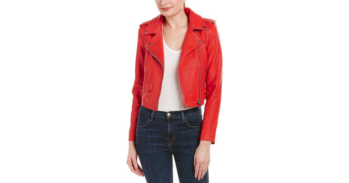 43f03cb6a5123 Walter Baker - Multicolor Liz Leather Moto Jacket - Lyst