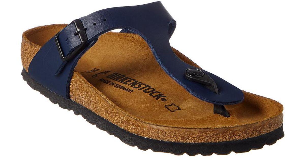 birkenstock gizeh blue leather