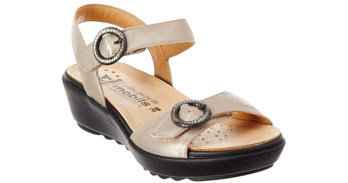 8ebb083ab Lyst - Mephisto Floriane-m Leather Sandal in Metallic