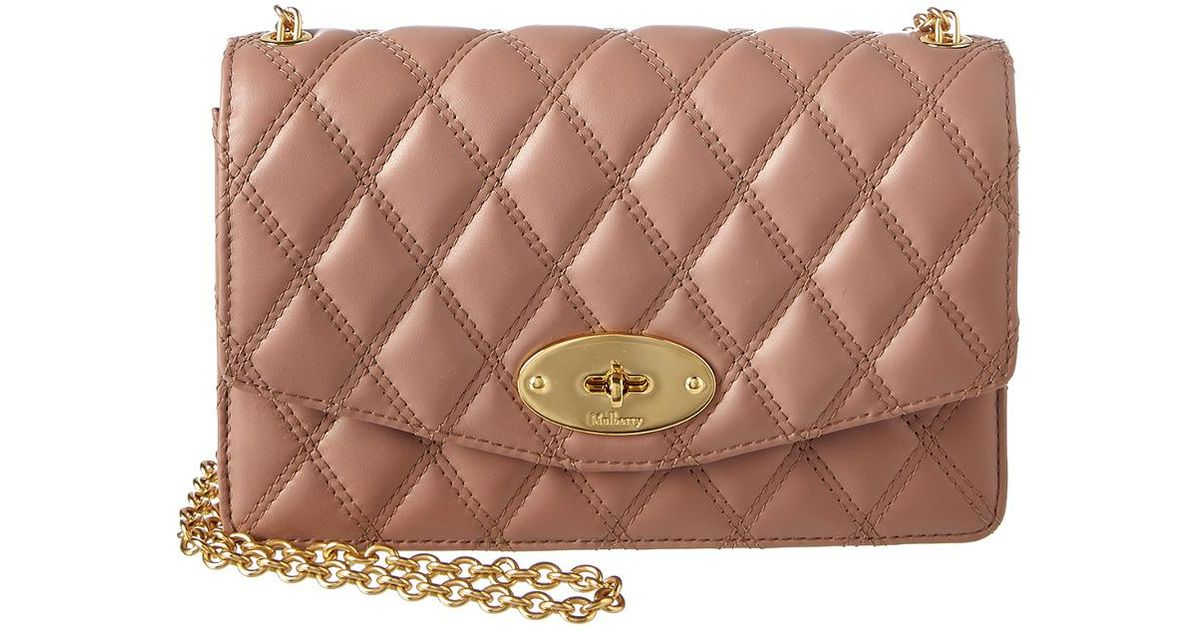 sports shoes new specials top quality Mulberry Small Darley Quilted Leather Crossbody, Pink - Lyst