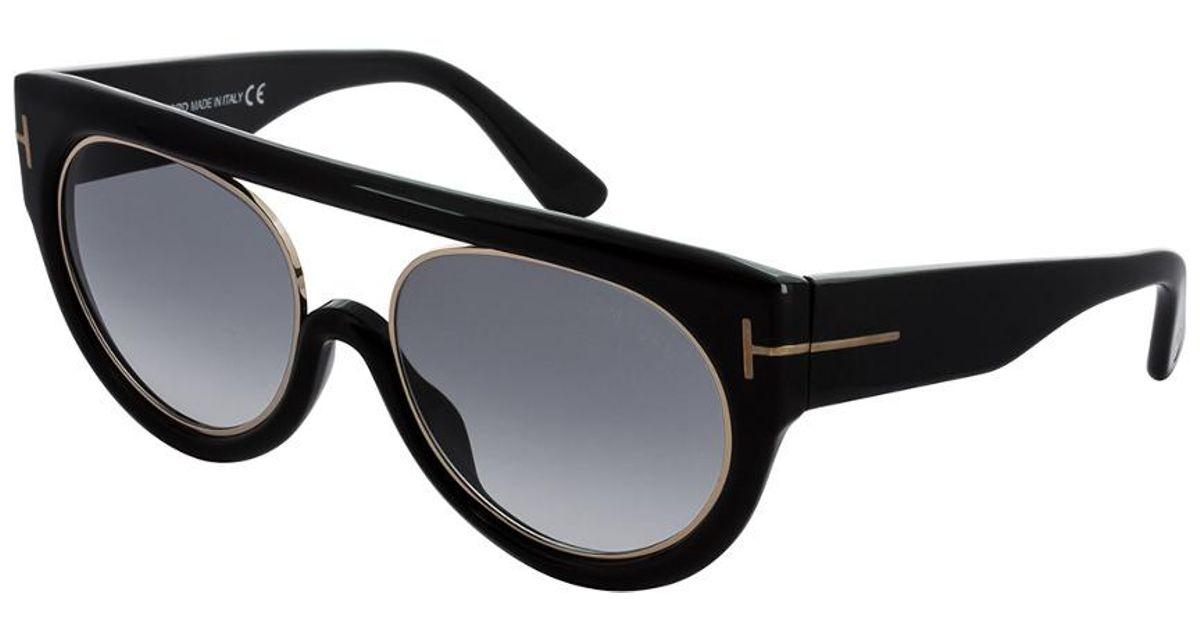 496c33bb3d Lyst - Tom Ford Women s Alana Sunglasses in Black