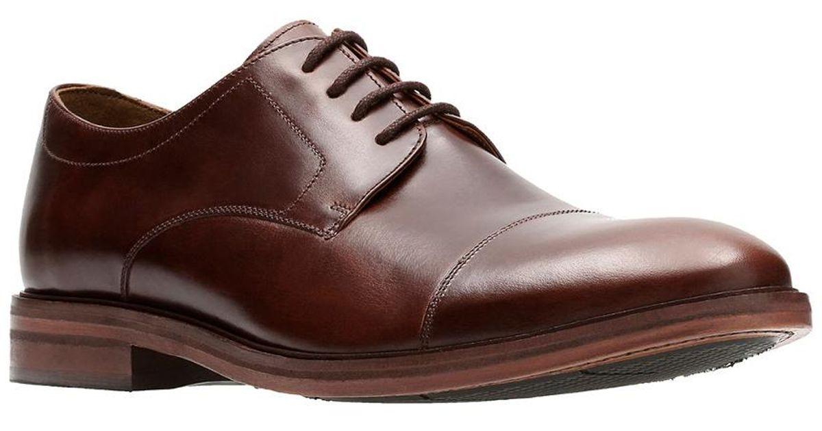 11cfbff4f7f Lyst - Clarks Men s Bostonian Mckewen Cap Shoe in Brown for Men