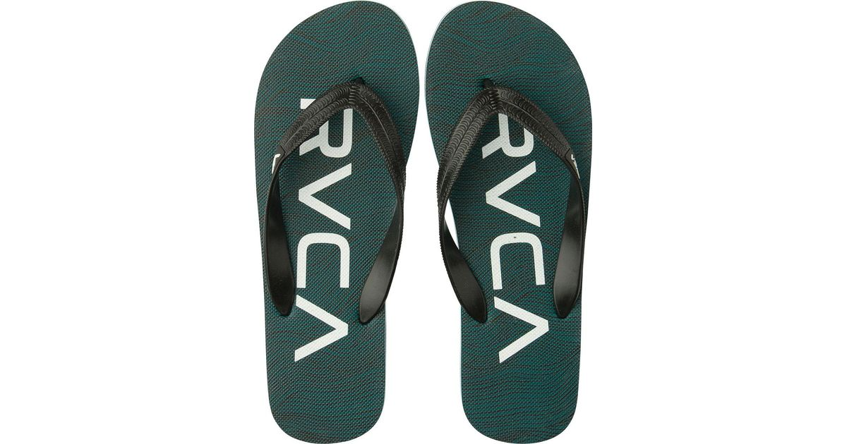 f9da8a21b2bfc Lyst - Rvca Trench Town Ii Sandals in Green for Men