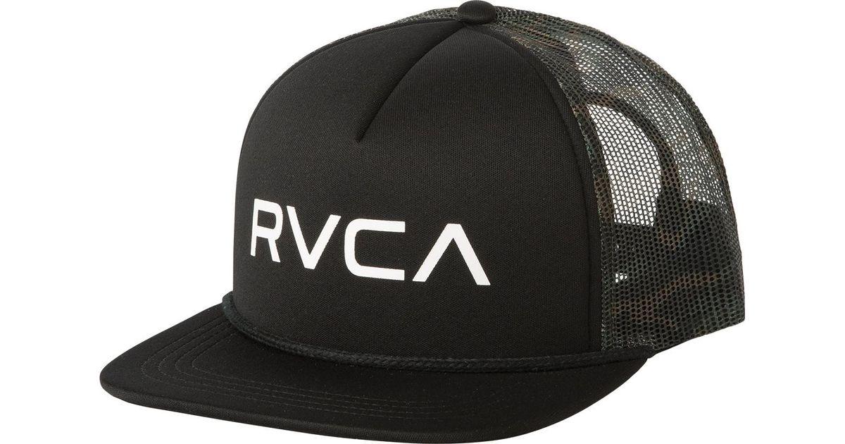 1d46cb42c1c Lyst - RVCA Foamy Trucker Hat in Black for Men - Save 35%