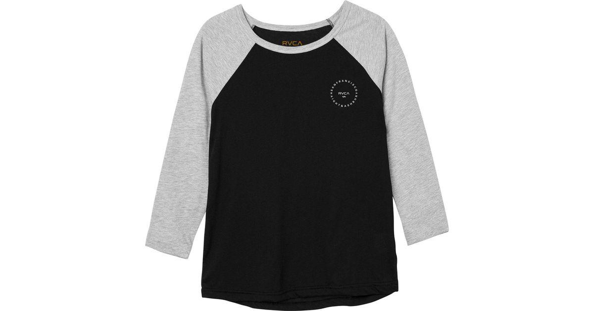 f1192616 RVCA Sf Circle Type Raglan T-shirt in Black for Men - Lyst