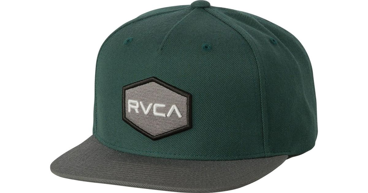 the latest 3edba dc78f ... where to buy lyst rvca commonwealth snapback ii hat in green for men  c0c4b 4eaa8