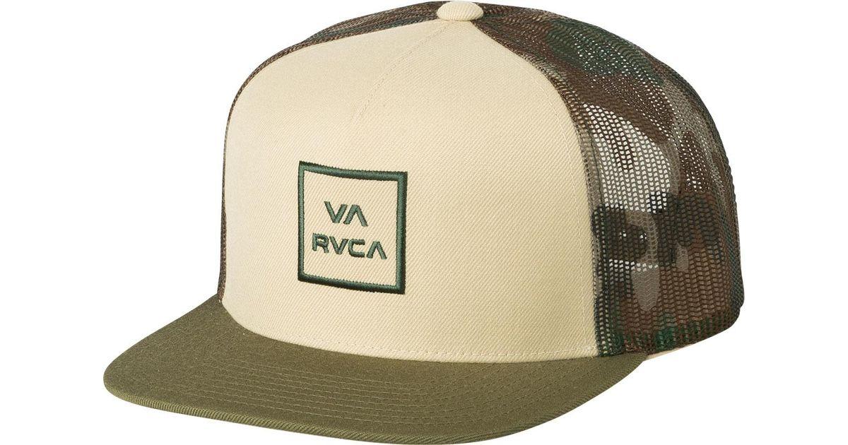 9a6953572 RVCA - Natural Va All The Way Trucker Hat Iii for Men - Lyst
