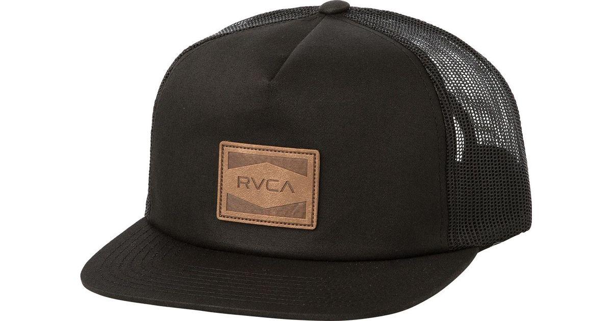 Lyst - RVCA Washburn Trucker Hat in Black for Men e20364869f6