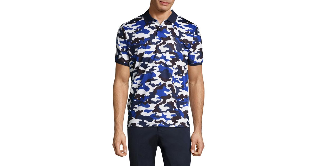 2c5a2313 Lyst - G/FORE Camouflage Short Sleeve Polo in Blue for Men
